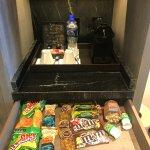 Mini bar includes candies & pistachio nuts!