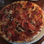 The Americana pizza - mouth-watering - so tasty