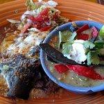 chicken enchilada with Yucatan soup
