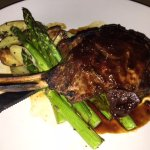 Roasted veal with balsamic fig demi