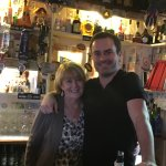 Proprietor Bridie, and her son, EJ