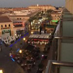View of The Square in Los Alcázares from our balcony. October 2017