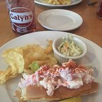 Lobster roll and blueberry soda--so good!!