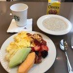 Breakfast in concierge lounge
