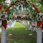 Set up for Balinese wedfing