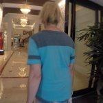 Entering the hotel front doors