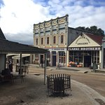 The main street is a recreation of Ballarat in the 1850s gold rush.