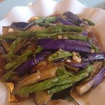 Egg Plant and Beans