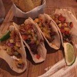 Tacos w/mango salsa