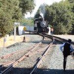 Steam Engine Changing Tracks