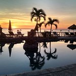 Sunrise over the pool and Sea of Cortez