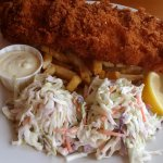 Panko cod and chips