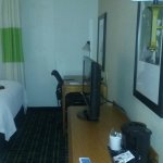 Coffee maker with flat screen TV. Microwave also in room.