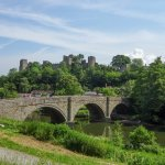 Ludlow Castle from the River Neme