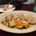 Pork potstickers. If it wouldn't have been rude, I would've licked the plate to get every drop o
