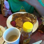 chocolate chip pancakes for the kiddo