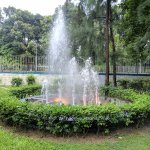 A fountain as you stroll along the ghat