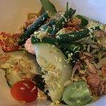 """shrimp """"urab"""" salad"""