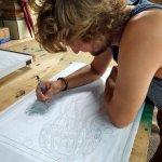 tracing the stencil