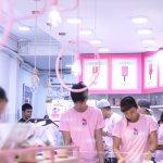 ice kitchen pink interior