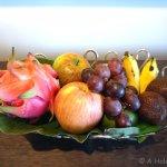 Welcome fruit basket with dragonfruit and snake fruit