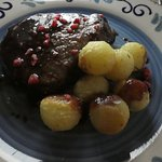 filet with roasted potatoes