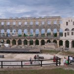 Inside the Pula Arena