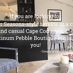 The Lounge of the Platinum Pebble Boutique Inn