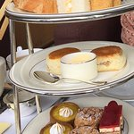 Afternoon tea with sandwiches and pastries - they keep coming with refills :)