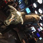 The Blinged out Bull near the hostess station PBR Las Vegas