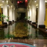 Atrium area around which all room suites are set.