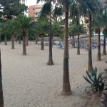 View from terras to the beach/sea