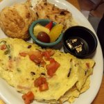 Special: Hurricane Irma omelet - everything but the kitchen sink in it.