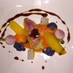 Einkleiner Eindruck der Speisen in dem Restaurant