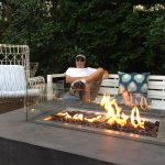 Fire Pit Patio - relaxing before dinner out in Edgartown