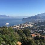 View over Sorrento with Vesuvius!