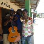 Band at practice session, Kololi
