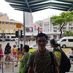 Foto of my friend view of Bugis Market from Bugis Junction