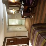 Beautiful room. Booked through superbreak. Good toiletries and complementary chocs and biscuits