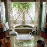 Sunken tub in bath room