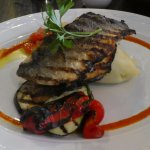 Sea Bass mains with char veges