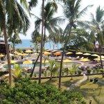 Vista sulla piscina e la spiaggia
