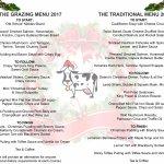 Deano's Christmas Menu 2017 Grazing Menu and Traditional Menu
