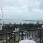 The view of Spike Island from our balcony