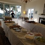 Buffet was the choice of the event.