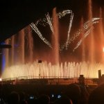 Fountain with fireworks