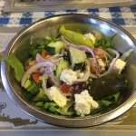 a nice big Greek salad to start, delicious!