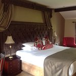 Our spacious room in the Courtyard area, along with the charming old room key