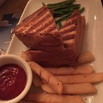 Kids Grilled Cheese with Fries - so dry it was inedible