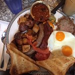 Mega Meat Meal for breakfast - sure once in awhile!